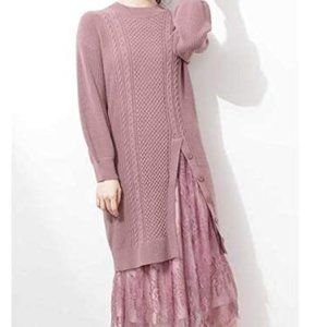Dress long knitted dress lady